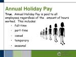 annual holiday pay1