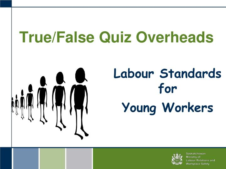true false quiz overheads