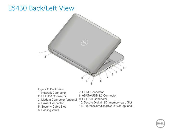 E5430 Back/Left View