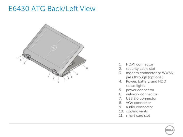 E6430 ATG Back/Left View