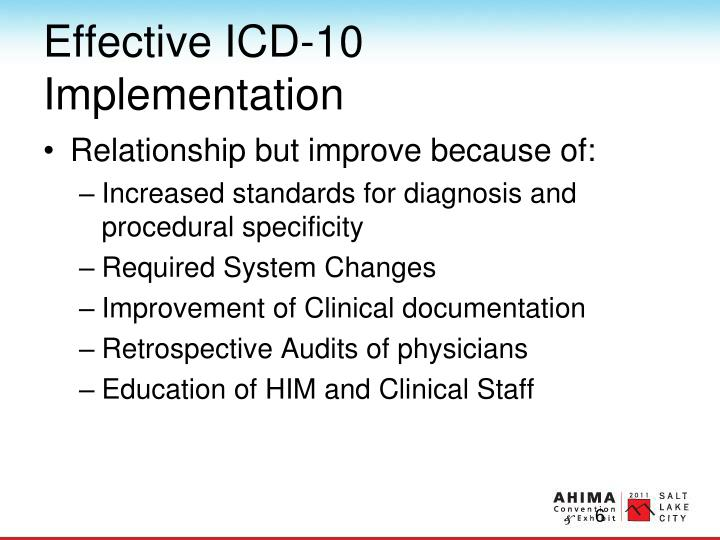 Effective ICD-10 Implementation