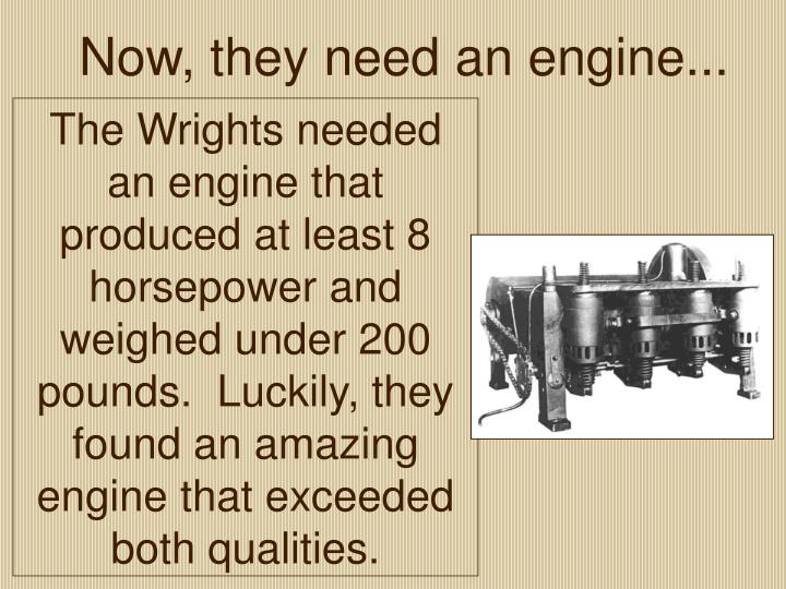 Now, they need an engine...
