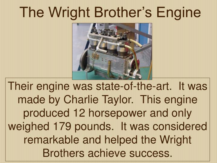 The Wright Brother's Engine