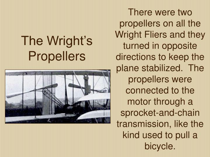 The Wright's Propellers