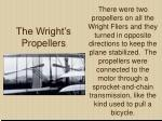 the wright s propellers