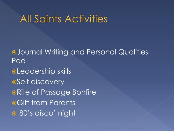 All Saints Activities
