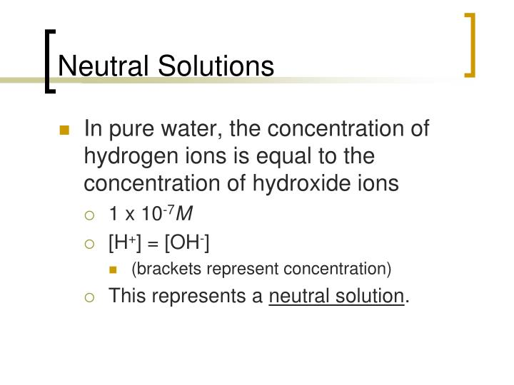 Neutral Solutions
