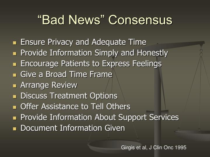 """Bad News"" Consensus"