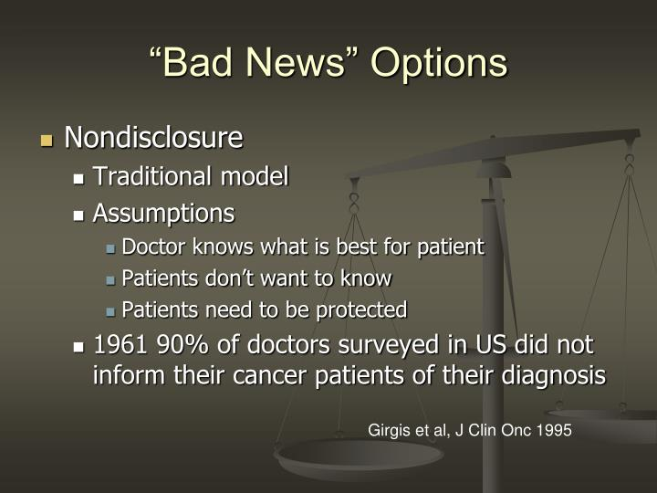 """Bad News"" Options"