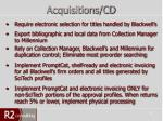 acquisitions cd1