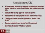 acquisitions cd3