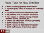 frees time for new priorities