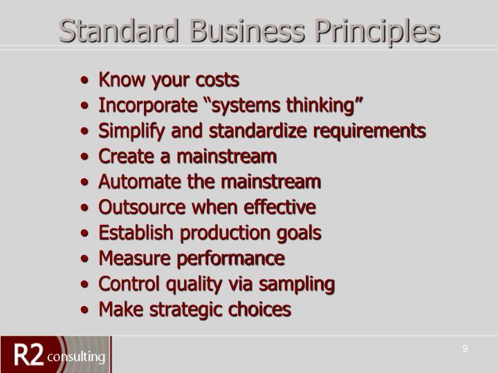 Standard Business Principles