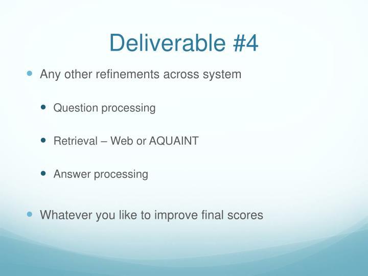 Deliverable #4