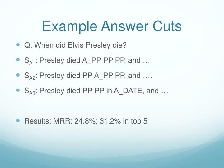 Example Answer Cuts