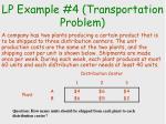 lp example 4 transportation problem