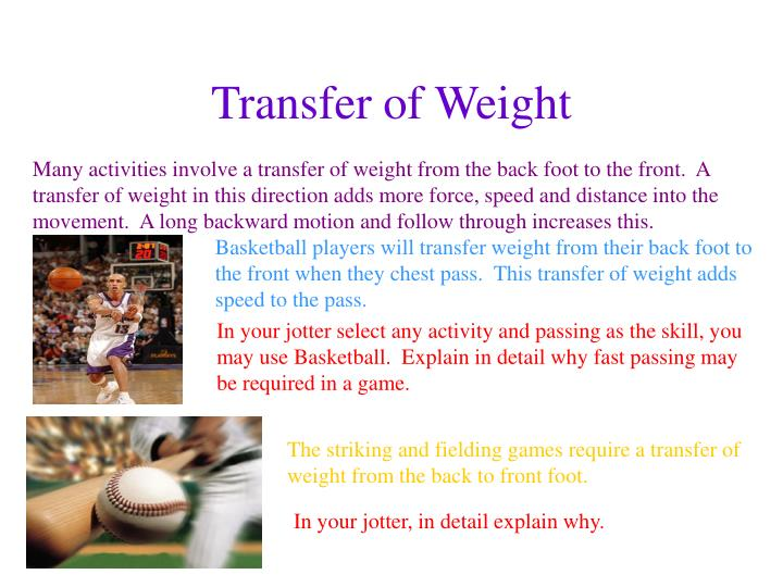 Transfer of Weight