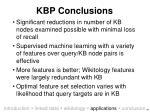 kbp conclusions