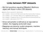 links between rdf datasets
