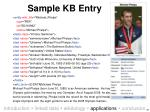 sample kb entry
