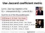 use jaccard coefficient metric