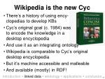 wikipedia is the new cyc