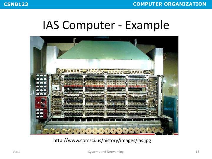 IAS Computer - Example