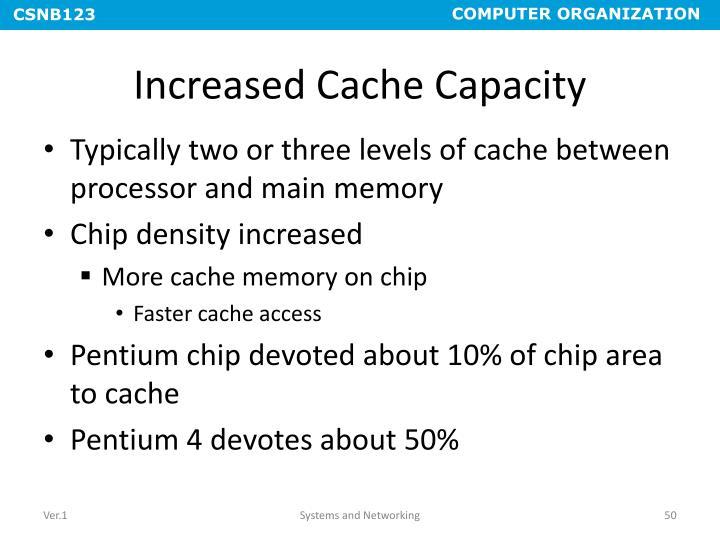 Increased Cache Capacity