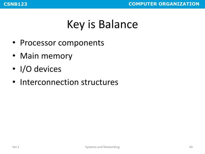 Key is Balance