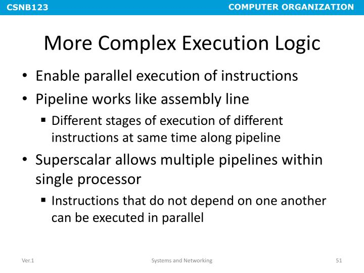 More Complex Execution Logic