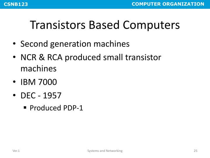 Transistors Based Computers