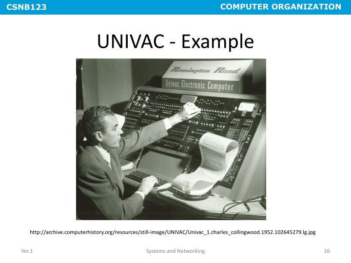 UNIVAC - Example
