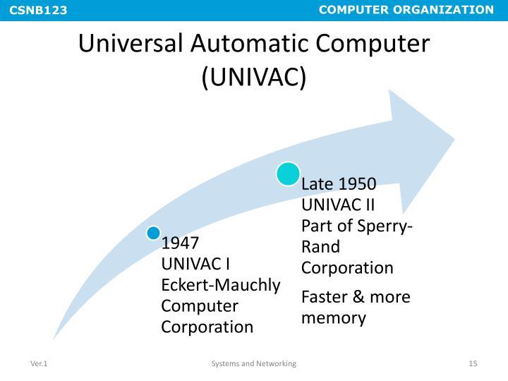 Universal Automatic Computer (UNIVAC)
