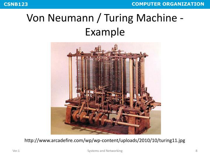 Von Neumann / Turing Machine - Example
