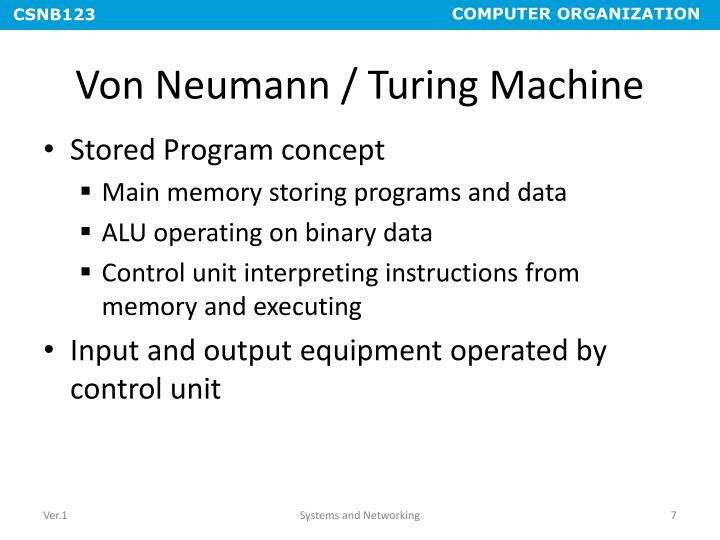 Von Neumann / Turing Machine