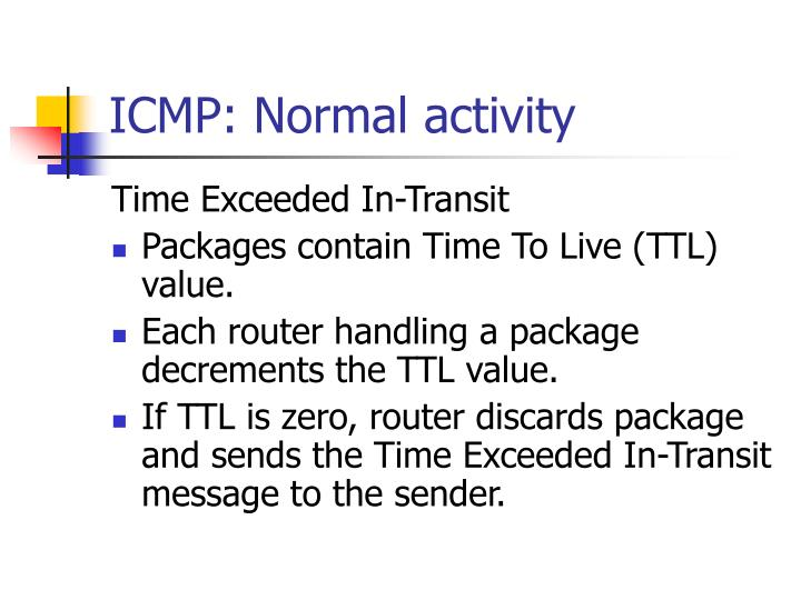 ICMP: Normal activity