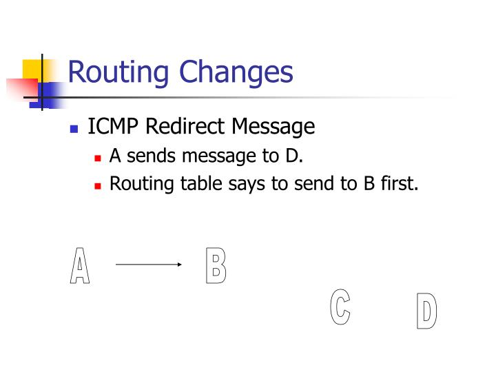 Routing Changes