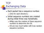 tcp exchanging data