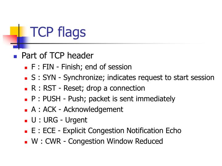 TCP flags