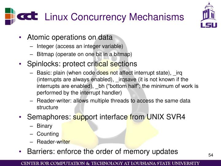 Linux Concurrency Mechanisms