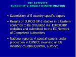 1st activity eurochip 2 result dissemination