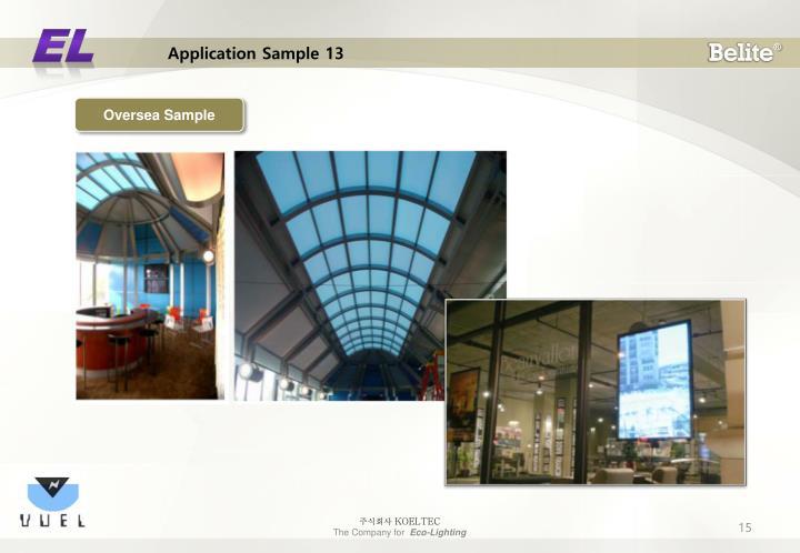Application Sample 13