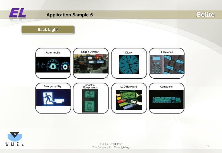Application Sample 6