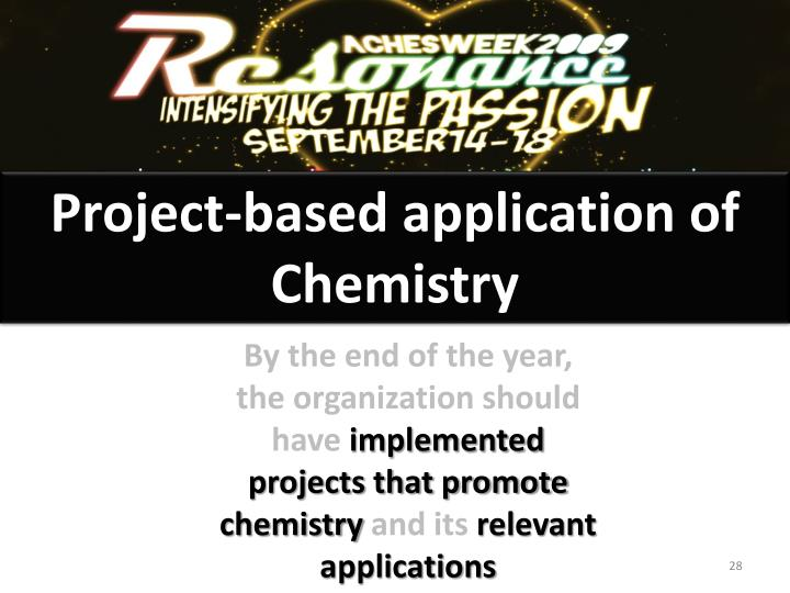 Project-based application of Chemistry