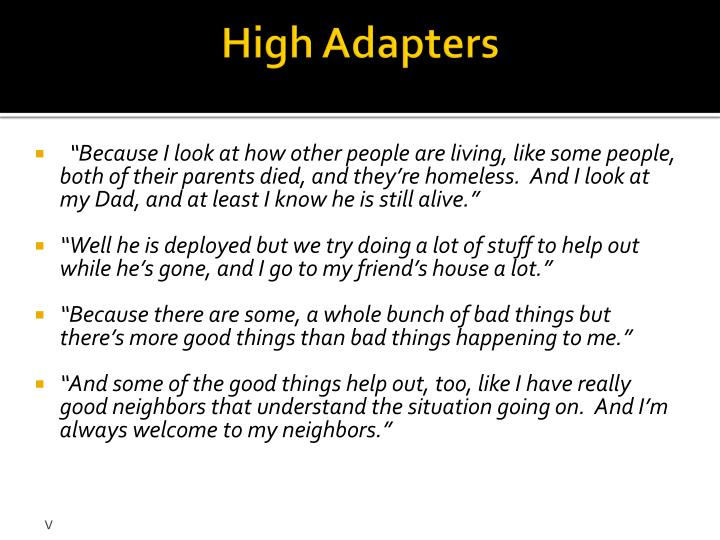 High Adapters