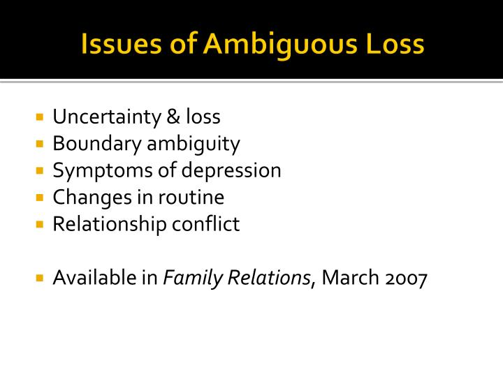 Issues of Ambiguous Loss