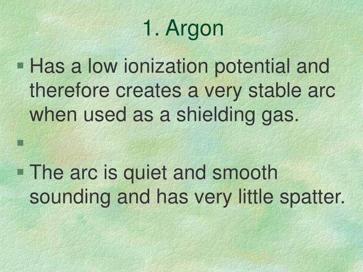 1. Argon