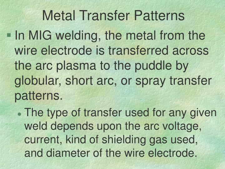 Metal Transfer Patterns