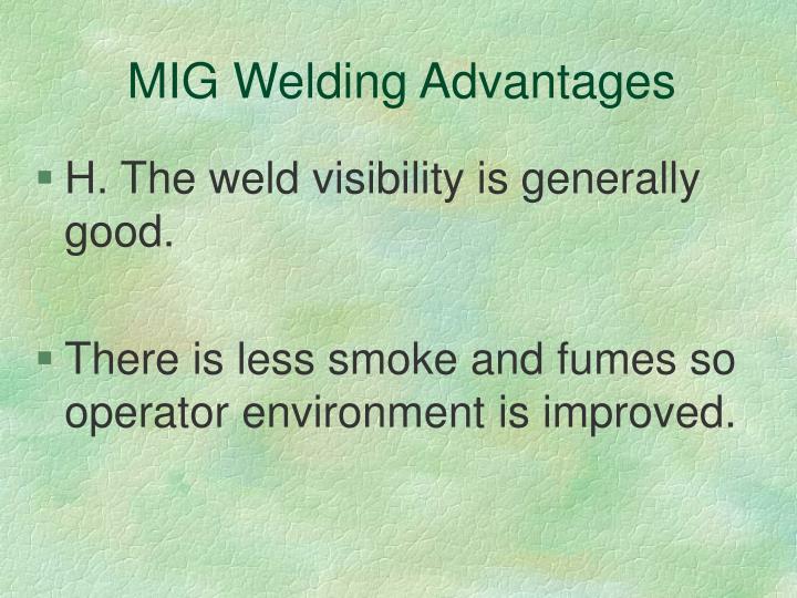 MIG Welding Advantages