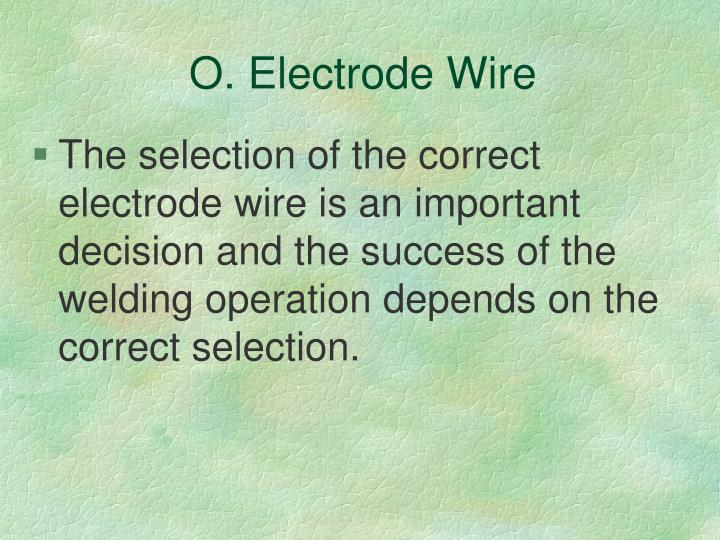 O. Electrode Wire